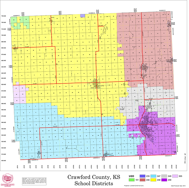 Crawford County School District Maps