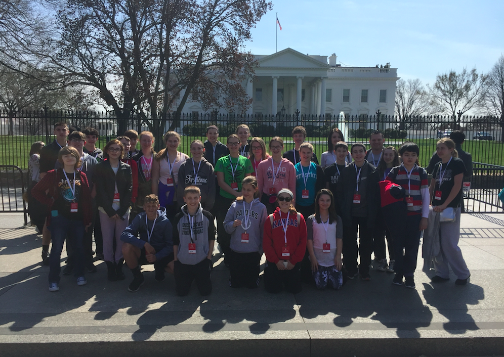 Mr. Hill lead a trip to D.C with Frontenac Junior High Students.