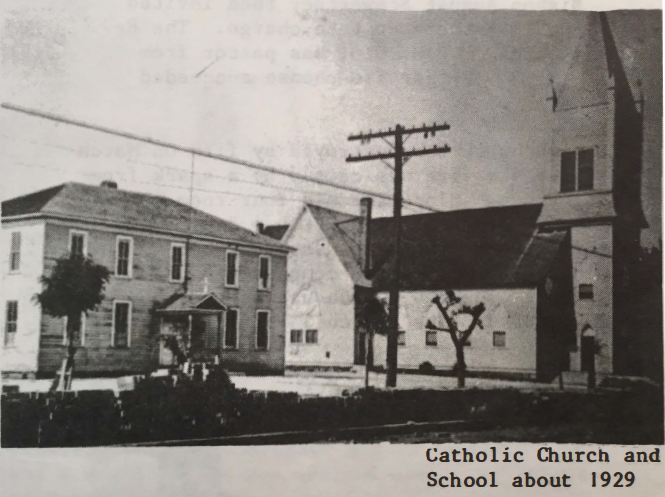 Catholic Church and School about 1929