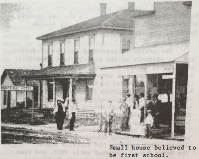 Small house believed to be first school