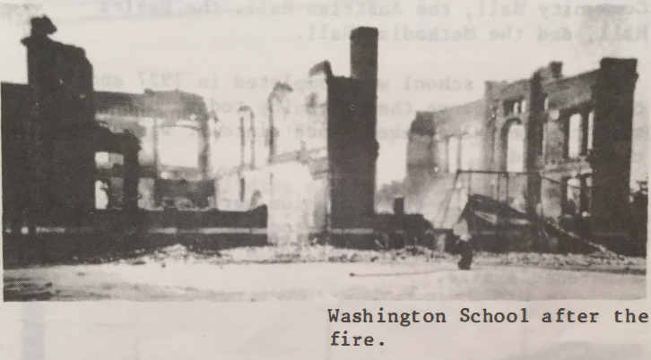 Washington School after fire.