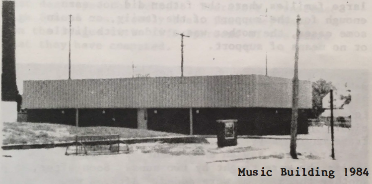 Frontenac Music Department 1984