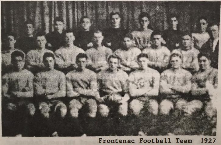 Frontenac Football Team 1927